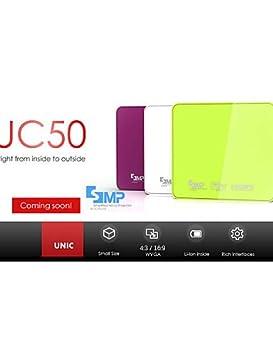 UNIC récent DLP 800lumens 3d numérique LED HDMI 1080p HD projecteur de film maison de pico de cinéma ZHG-uc50 , white