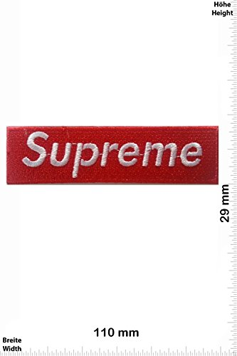 Patch - Supreme - red/white - Cool Brands - Supreme - Supreme- toppa - applicazione - Ricamato termo-adesivo - Patch""