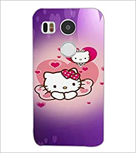 PrintDhaba Kitty D-4473 Back Case Cover for LG NEXUS 5X (Multi-Coloured)
