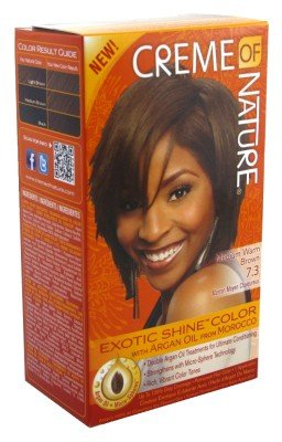 Crème of Nature Medium Warm Brown 7.3 Exotic Shine Color