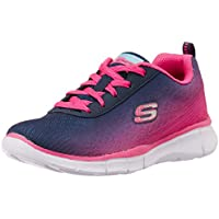 Skechers Girls' Equalizer Navy and Hotpink Sports Shoes - 12 kids UK/India(30 EU)(13 US)