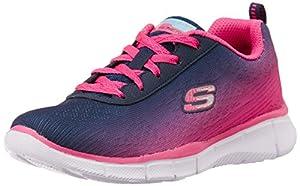 Skechers Equalizer - zapatilla deportiva de material sintético niña, color azul, talla 27