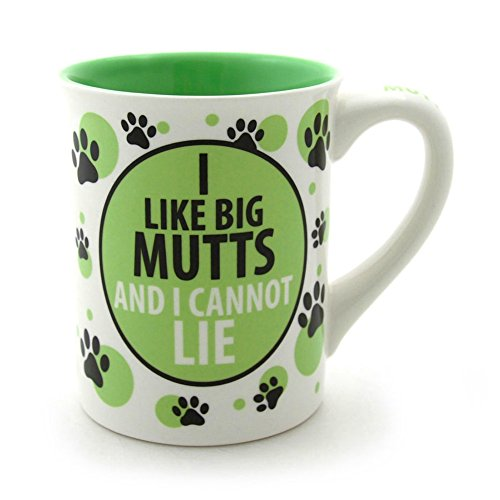 Enesco Our Name IS Mud 16-Ounce I LIKE BIG MUTTSSS Mug, 4.5-Inch