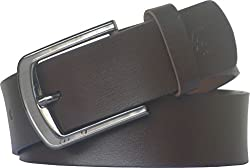 Sondagar Arts Men's Belt (SAB73_Brown_36)