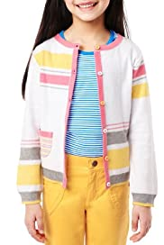 Pure Cotton Asymmetric Striped Cardigan [T77-4995T-Z]