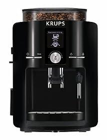 KRUPS EA8250001 Espresseria Fully Automatic Espresso Machine with Built-in Conical Burr Grinder Black