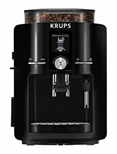 KRUPS EA8250 Espresseria Fully Automatic Espresso Machine with Built-in Conical Burr Grinder, Black