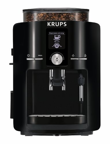 Krups Ea8250001 Espresseria Fully Automatic Espresso Machine With Built-In Conical Burr Grinder, Black front-345065