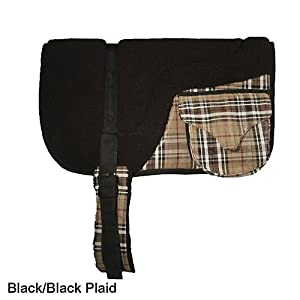 Kensington Fleece Bareback Pad with Pockets Black