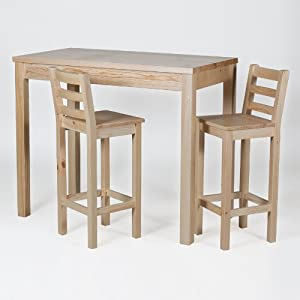 bartisch tisch 120x65 h 110 massiv kiefer holz natur k che haushalt. Black Bedroom Furniture Sets. Home Design Ideas
