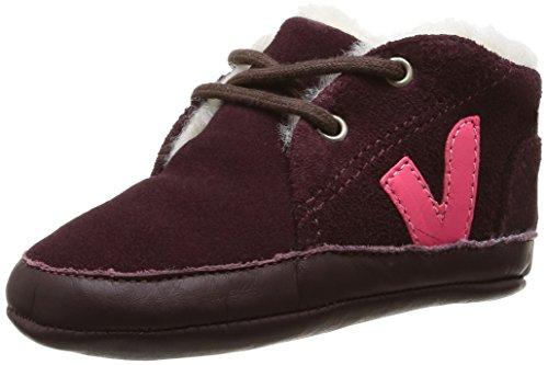 Veja  Patinho Suede Fured,  Sneaker ragazza Rosso Rouge (Burgundy Rose Fluo) 19-20