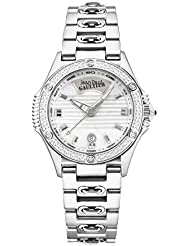 JPG Stainless Steel Case With 76 Diamonds On The Bezel, Silver Dial, Stainless Steel Bracelet