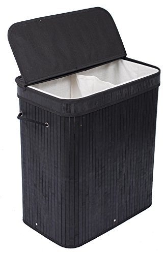 birdrock-home-double-laundry-hamper-with-lid-and-cloth-liner-bamboo-black-easily-transport-laundry-b