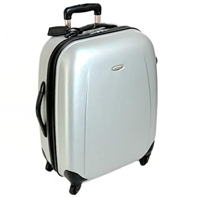 Borderline Extra Large 31 Inch Hard Sided 4 Spinner Wheels Trolley Case (Silver)