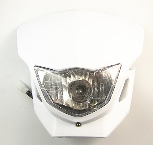 White Motorcycle Universal Vision Headlight Street Fighter headlamp CQR (Dirt Bike Headlight compare prices)