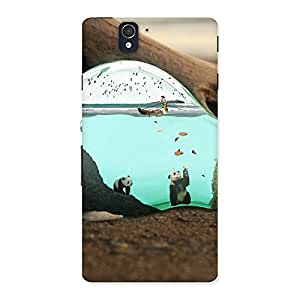 Cute Wonderful Bulb Multicolor Back Case Cover for Sony Xperia Z