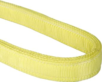 Mazzella EN4 Nylon Web Sling, Endless, Yellow, 4 Ply, Vertical Load Capacity