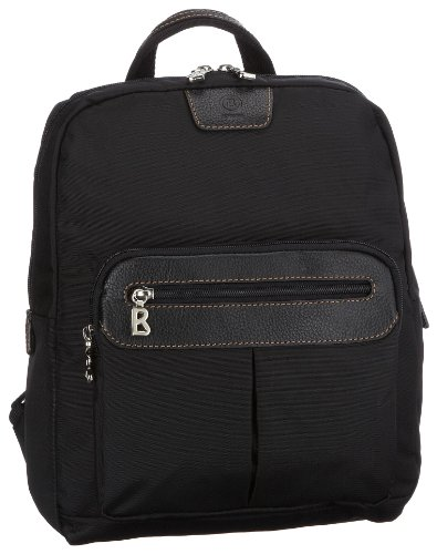 Bogner Elba Backpack 2 0493502008, Women's Shoulder Bag, Black, (Black/Black 008), 26x8x33