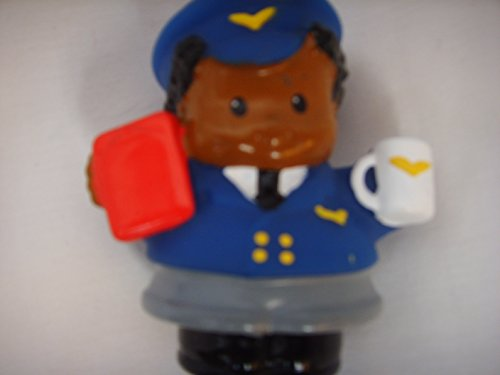 Little People Michael Black African American Airline Pilot Toy