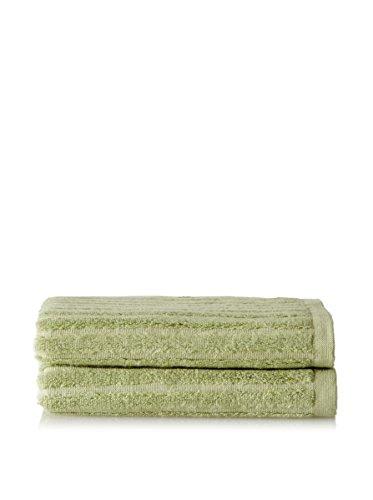 Bamboo Dreams Organic Cotton Ribbed Towels Color: Green Tea, Size: Hand Towel