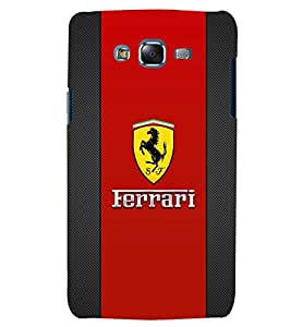 TOUCHNER (TN) Red Horse Back Case Cover for Samsung Galaxy J7::Samsung Galaxy J7 J700F