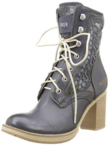 BunkerMana Em31 - Stivali classici alla caviglia Donna , Blu (Blu (Jeans)), 38 EU