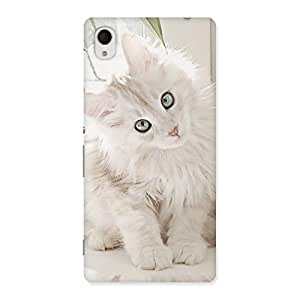 Cute Look Kitty Back Case Cover for Xperia M4 Aqua