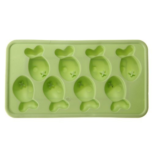 SMO Mignon chocolat poisson silicone Ice Cube Tray Cookie Mold Gel