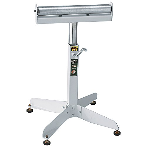 HTC HSS-15 Super Duty Adjustable 22-Inch to 32-Inch Tall Pedestal Roller Stand with 16-Inch Ball Bearing Roller, 500 Lbs. Material support (Ball Bearing Roller Stand compare prices)