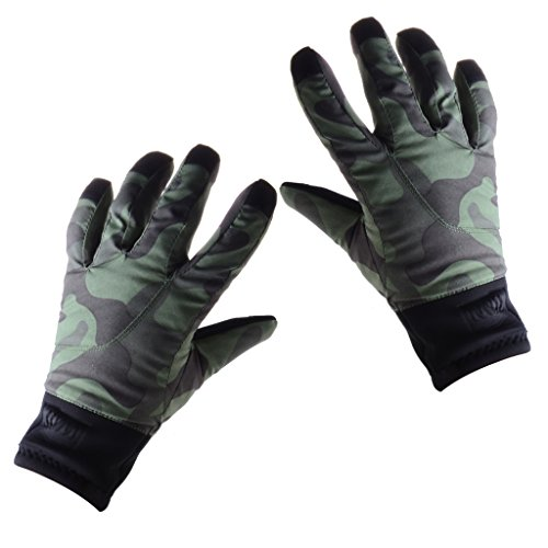 Boys Girls Touch Screen Winter Warm Waterproof Gloves for Skiing Cycling Snowboarding - Camouflage, XL