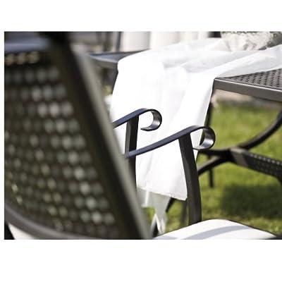 MBM 156119 Sessel Romeo niedrig, Eisengestell marone, 55 x 64 x 90 cm, Flächenfarbe marone antik von MBM bei Gartenmöbel von Du und Dein Garten