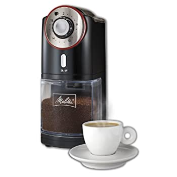 From super fine grounds for savory espressos to coarser grounds fro Drip of French Press coffee, the Melitta burr grinder precisely grinds your beans for every occasion. Store up to 16.5 oz of beans in the hopper and grind 2-18 cups hands-free with t...