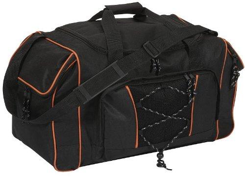 Reisetasche Sporttasche schwarz-orange ca. 57x30x32cm