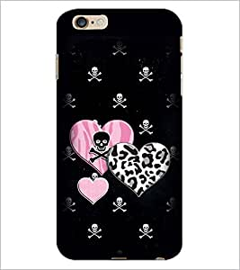 PrintDhaba Heart with Skull D-1966 Back Case Cover for APPLE IPHONE 6 PLUS (Multi-Coloured)