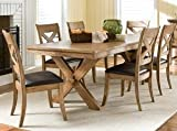 Rory 7-Piece Light Wood Casual Dining Set (As Pictured)