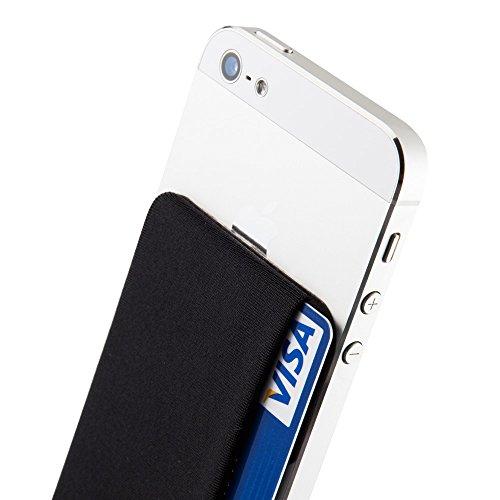 Sinjimoru-SPS-Smart-Wallet-funktioniert-als-Slim-Wallet-aufklebbares-Portemonnaie-Kartenetui-Kartenhalter-fr-iPhones-und-Android-Smartphones-Sinji-Pouch-Side-Schwarz