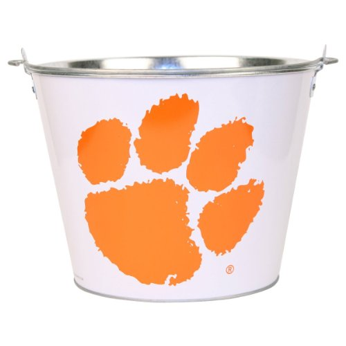 Clemson Tigers Ncaa Metal Beer Bucket With Handle (Holds 6 Longneck Bottles With Ice) back-591697