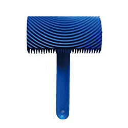 Magideal Wood Graining Pattern Rubber Painting Tool with Handle Wall Decor Blue04