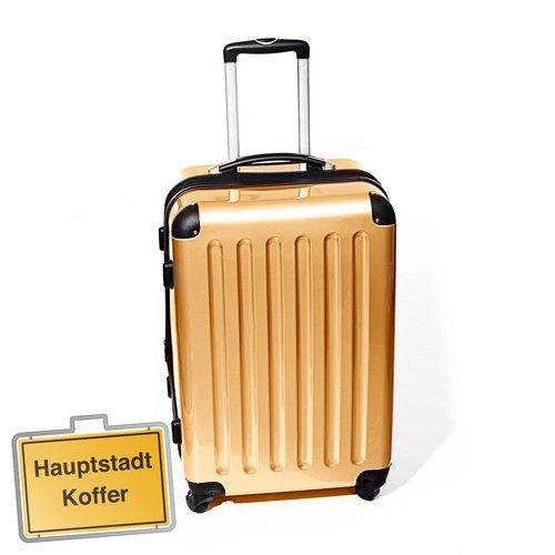 Hartschalen Koffer bronze / gold mittel 4x360°Rollen