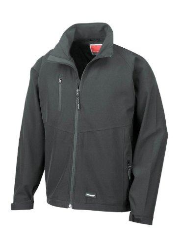 Result R128M Mens 2 Layer Base Softshell Jacket Black 2XL