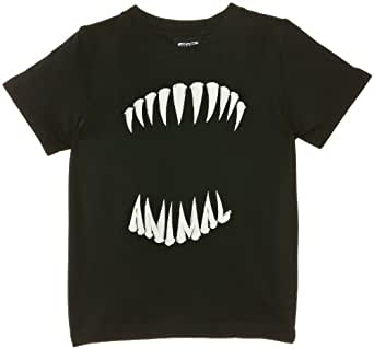 Animal Boy's Hendrixo T-Shirt, Black, 3/4 Years