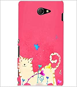 PrintDhaba Abstract Image D-3930 Back Case Cover for SONY XPERIA M2 (Multi-Coloured)