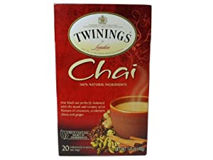 Twinings Chai Tea 1.41 Oz Box 20 Tea Bags
