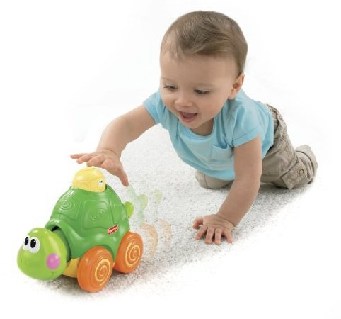 Fisher-Price Go Baby Go! Press And Crawl Turtle back-973805