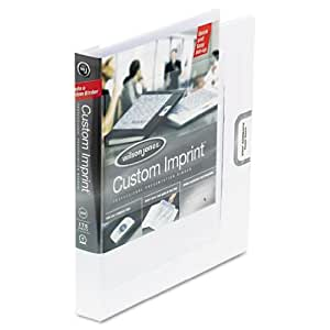 Wilson Jones Custom Imprint Presentation Binder, 1 Inch Capacity, Letter Size, White (W46101)