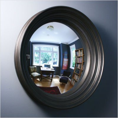 Dorian 24 Convex Wall Mirror Color: Rosewood