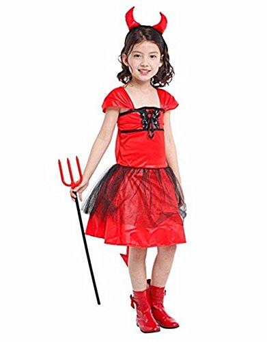 [RED DEVIL OUTFITS DEVIL COSTUME FOR GIRLS COSTUME FOR KIDS CHILDRENS FANCY DRESS466] (Devil Girl Outfit)