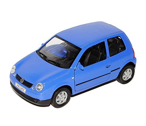 VW-Volkswagen-Lupo-Blau-1998-2005-ca-143-136-146-Welly-Modell-Auto-mit-individiuellem-Wunschkennzeichen