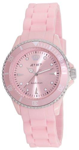 Jet Set J18314-56 - Orologio da polso donna, caucciú, colore: rosa