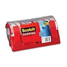 Scotch® Packaging Tape 3850-4RD, 1.88 Inches x 54.6 Yards, with Reusable Dispensers, 4-Pack